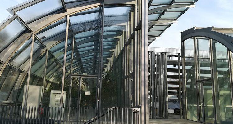 Le court de serres d'Auteuil a été achevé en octobre2018.
