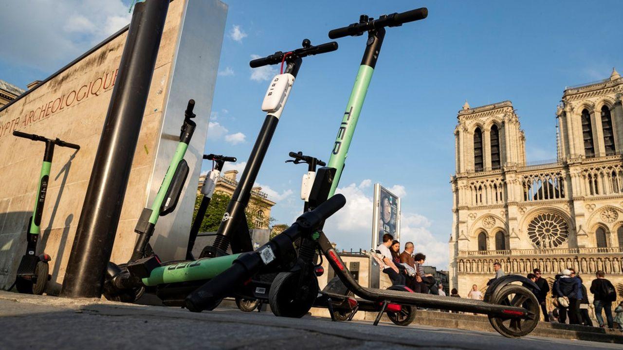Onze opérateurs de trottinettes électriques sont présents à Paris depuis juin2018.