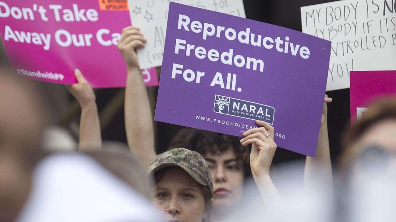 Des protestations ont eu lieu le 7mai en Georgie contre la loi sur l'avortement.