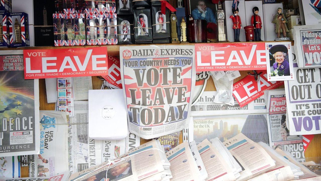 Le Une du Daily Express le 23juin 2016, jour du référendum sur la sortie du Royaume-Uni de l'Union européenne, enjoint ses lecteurs à voter en faveur du Brexit.
