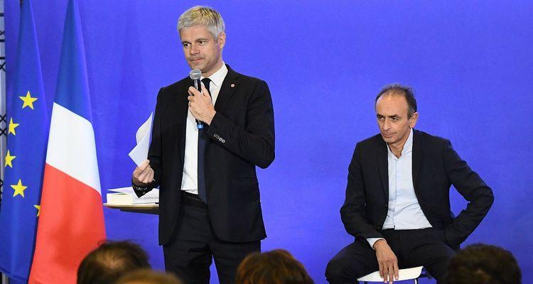 Laurent Wauquiez et Eric Zemmour, le 30janvier 2019.