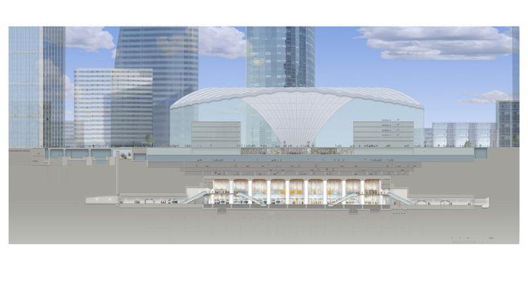 La maquette de la future gare de La Défense.