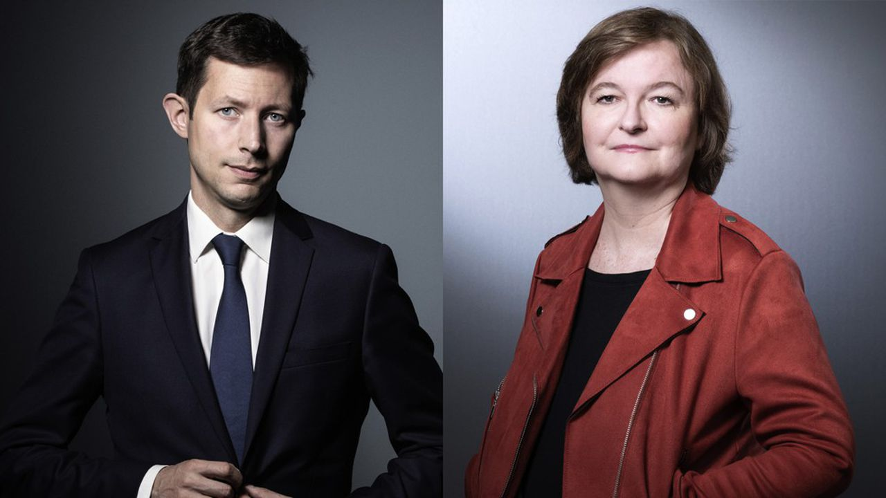 Nathalie Loiseau, pour la liste LREM-Modem et François-Xavier Bellamy, tête de liste LR, se sont livrés lundi à l'invitation de l'Institut Montaigne, à leur seul débat en tête-à-tête de la campagne pour les élections européennes. Un échange tendu.