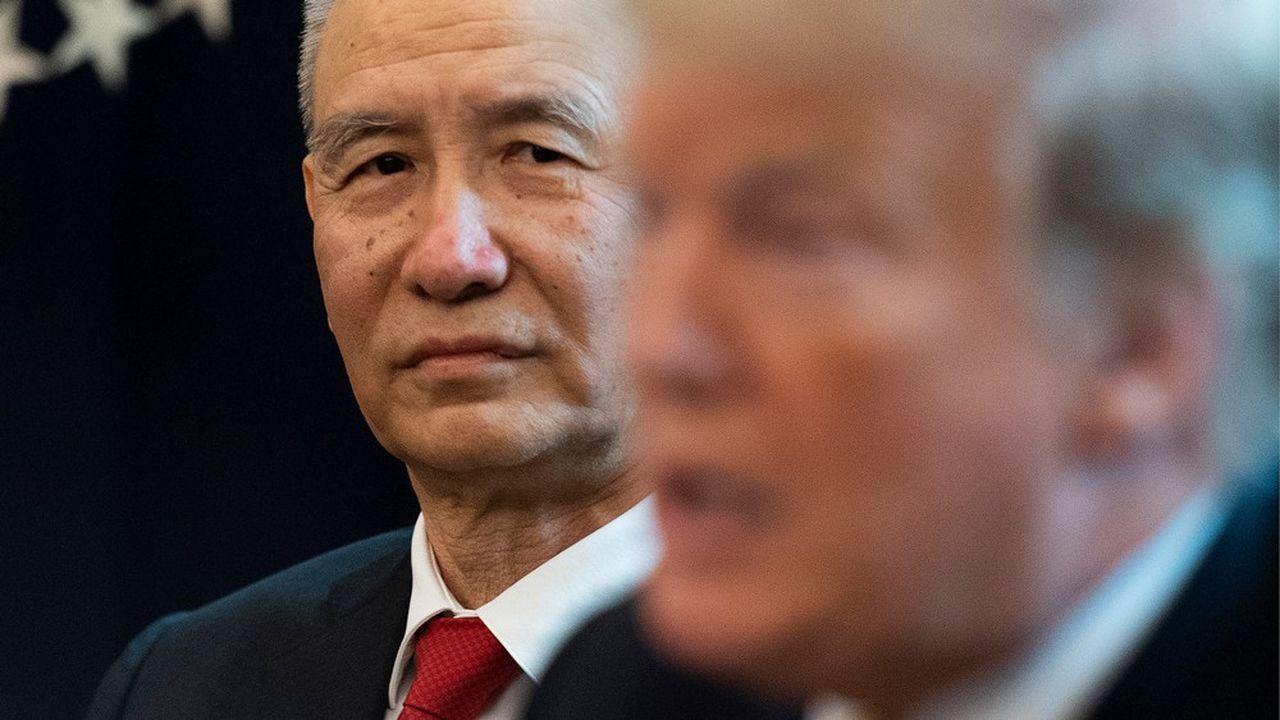 Lors d'une rencontre à la Maison Blanche avec le vice-Premier ministre chinois Liu He, le 4avril 2019, le président Trump demande à la Chine d'ouvrir plus largement ses marchés aux produits américains.