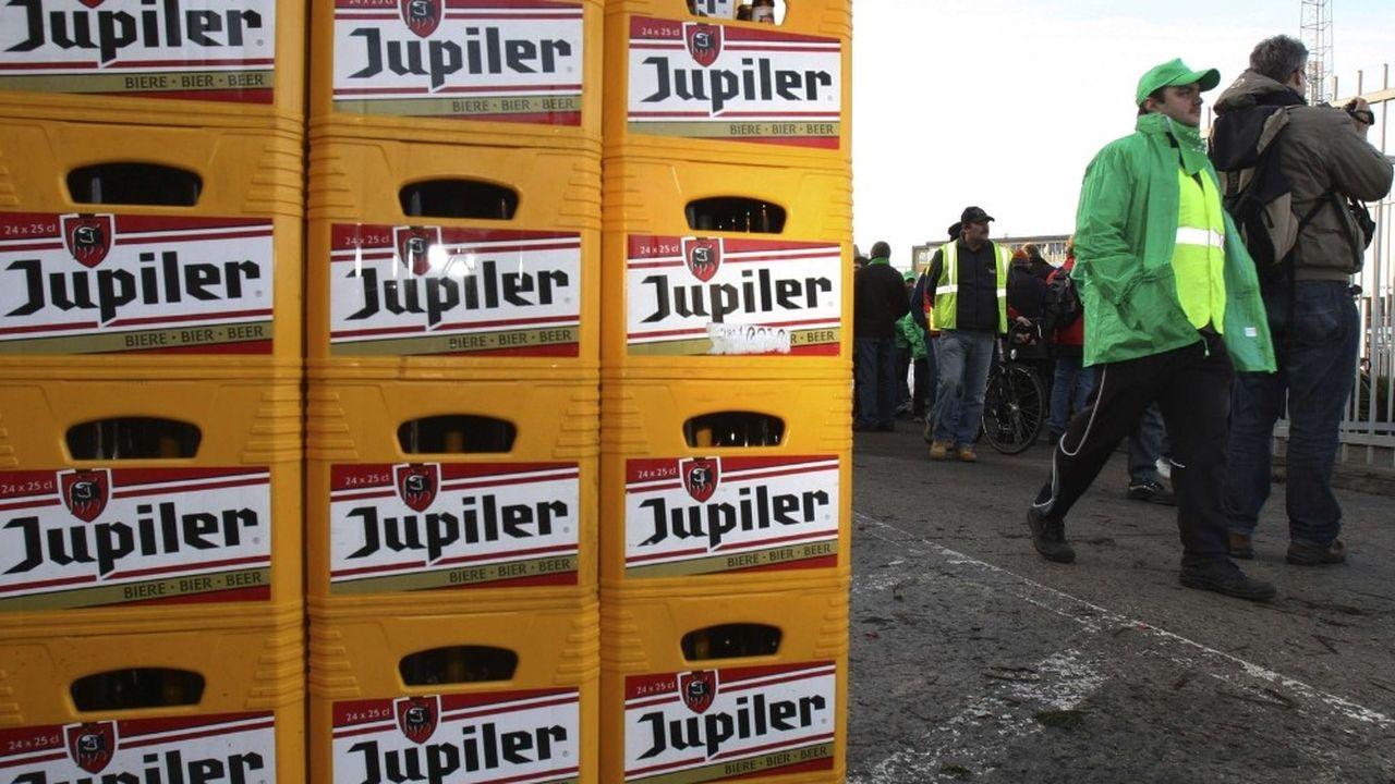 La part de marché de la bière Jupiler en Belgique atteint 40% en volume des ventes