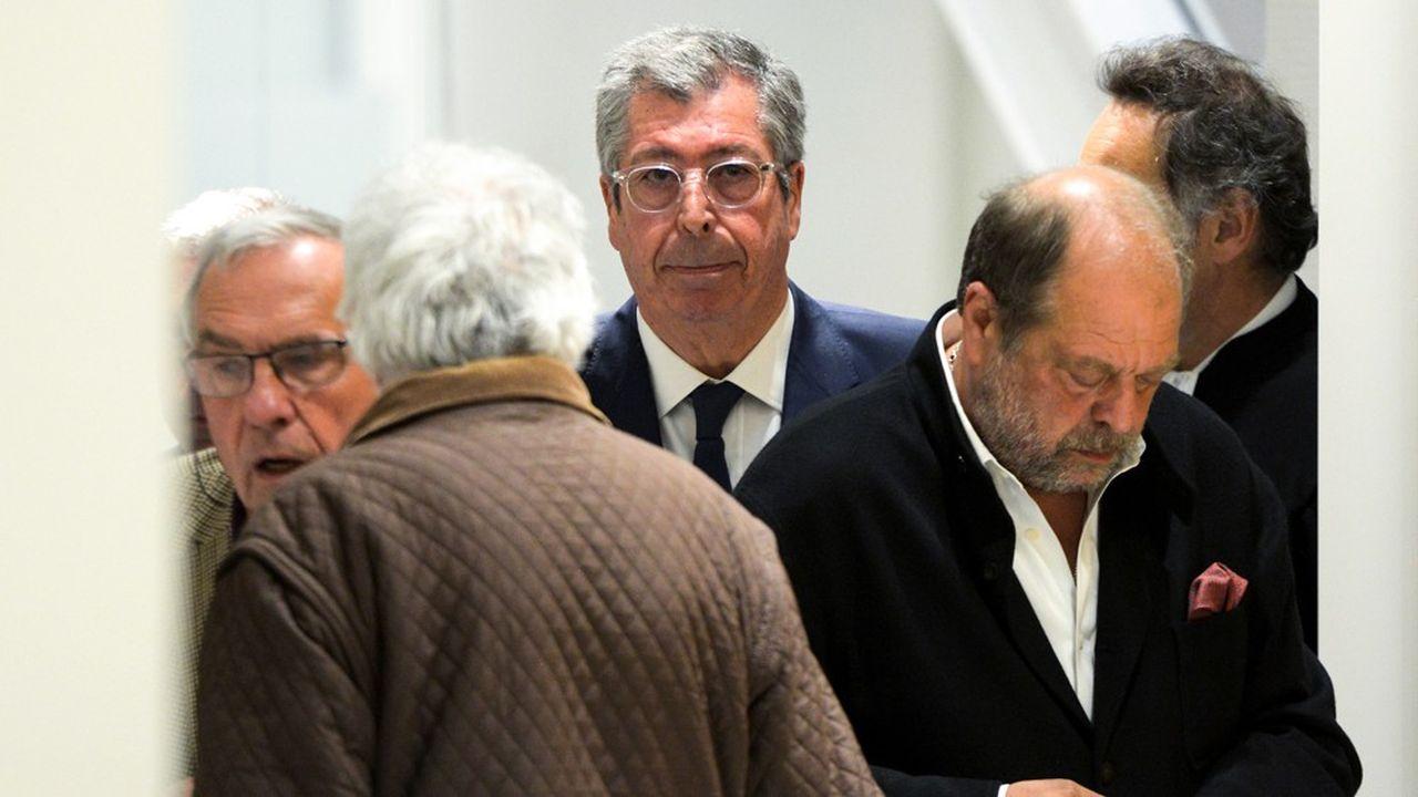 Patrick Balkany avec son avocat, Eric Dupond-Moretti (à droite).
