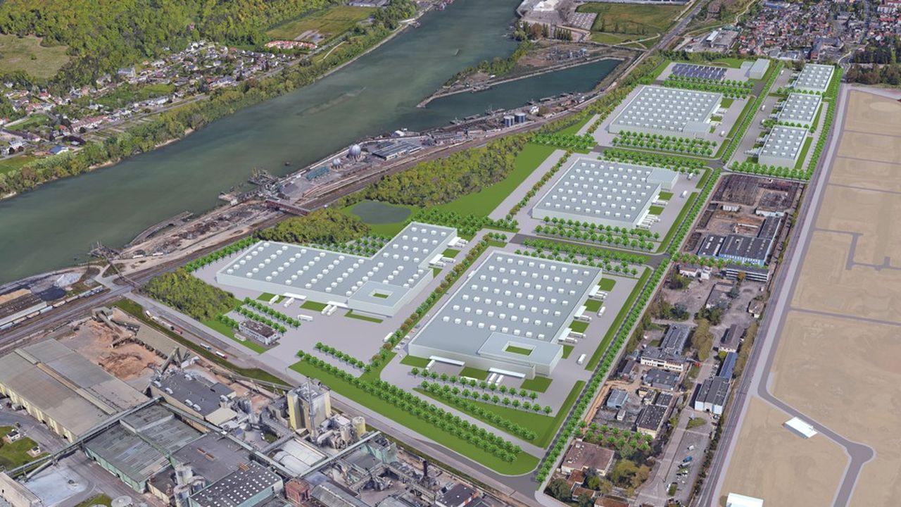 Projet pour la reconversion du site de raffinage Petroplus de Petit-Couronne près de Rouen (Seine-Maritime)