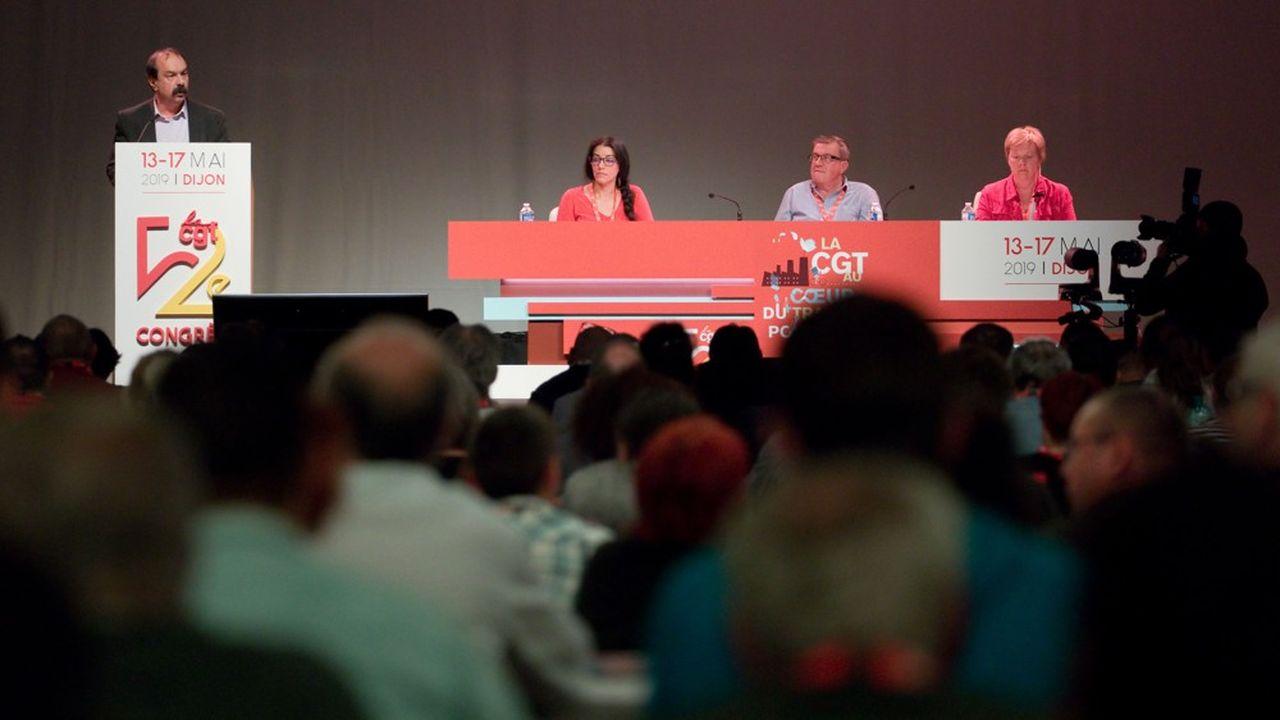 Le secrétaire général de la CGT, Philippe Martinez, a ouvert lundi le 52e congrès de la centrale qui se déroule jusqu'à vendredi à Dijon.