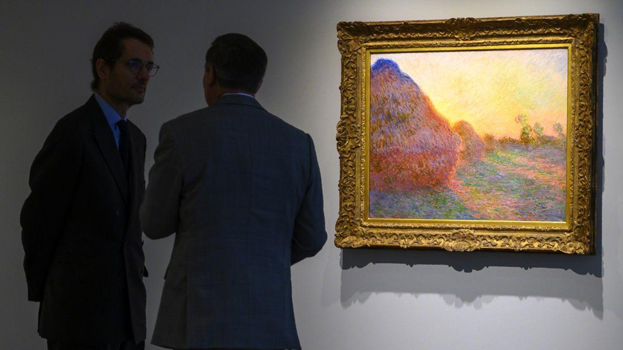 Une toile de Claude Monet de la série « Meules » a été adjugée plus de 110,7 millions de dollars chez Sotheby's ce mardi à New York.