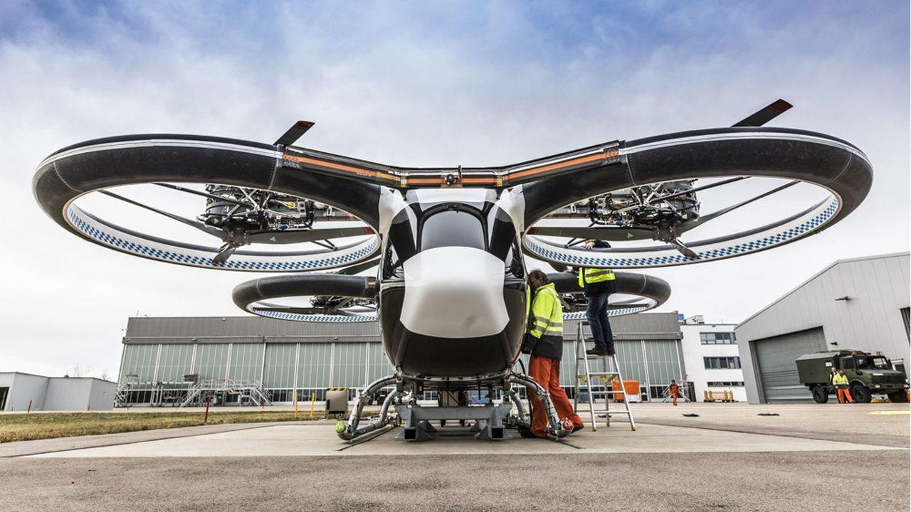 Le CityAirbus, engin sans pilote à décollage vertical doté de 4 places, semble le prototype du groupe aéronautique le plus adapté à une logique de transport urbain.