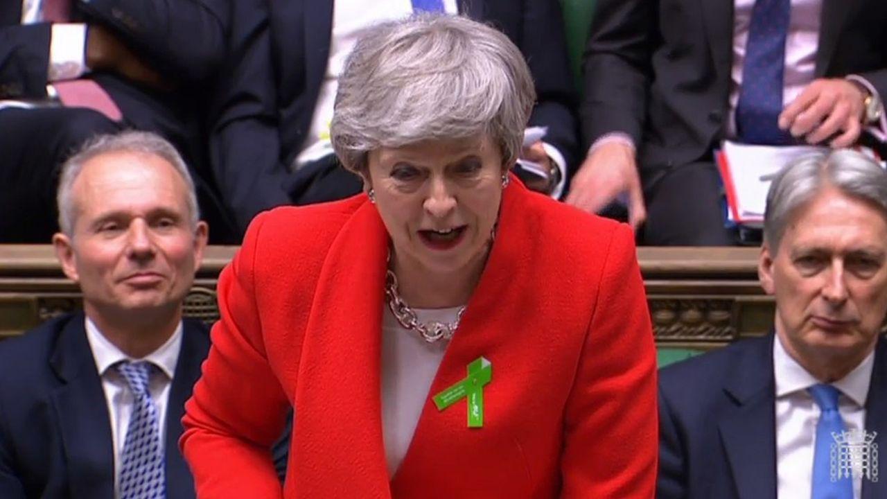Theresa May mercredi à la Chambre des communes.