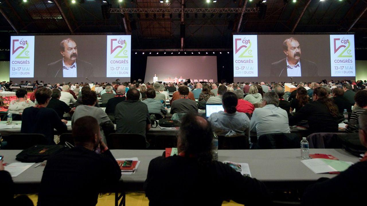 Philippe Martinez a ouvert lundi le 52e congrès de la CGT, qui se déroule jusqu'à vendredi à Dijon.