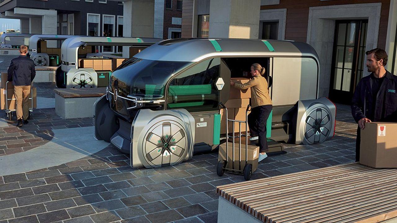 Renault a présenté en septembre son nouveau concept-car de robot livreur baptisé « EZ-Pro ».