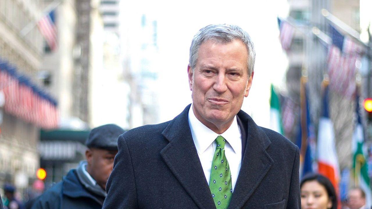 Le maire de New York, Bill de Blasio, candidat à la Maison Blanche