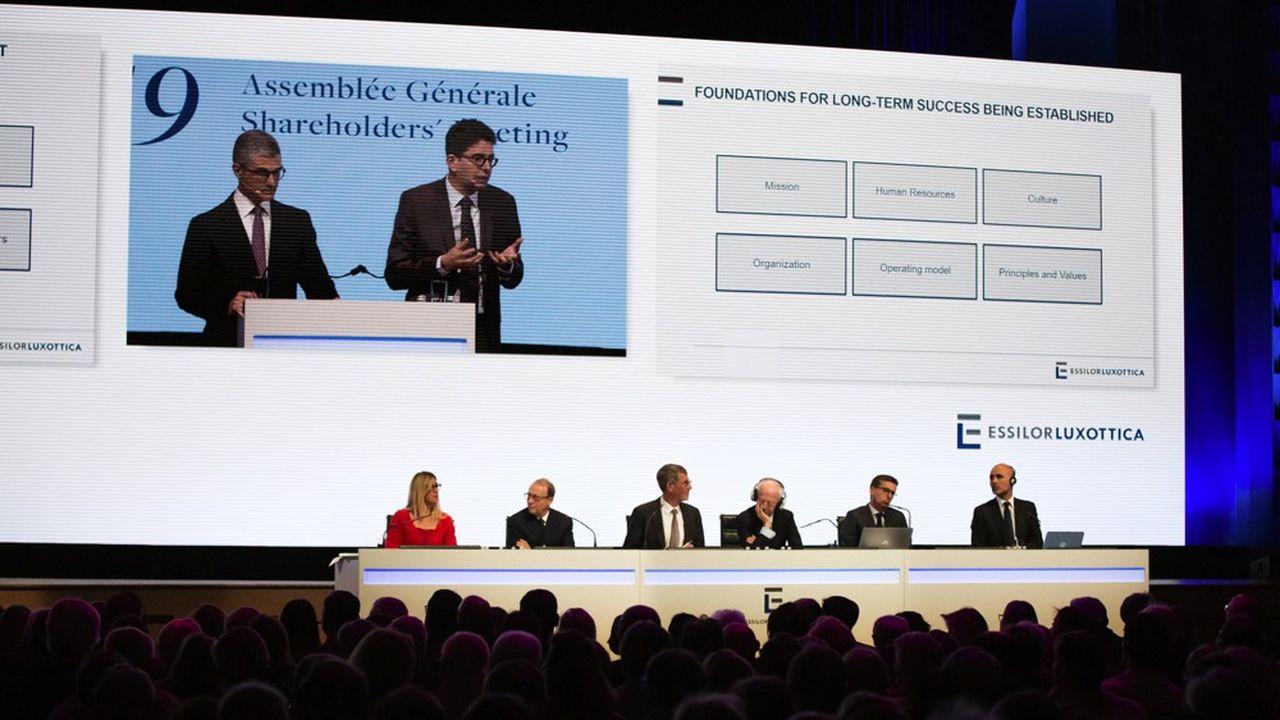 Assemblée générale d'EssilorLuxottica le 16 mai à la Maison de la Mutualité.