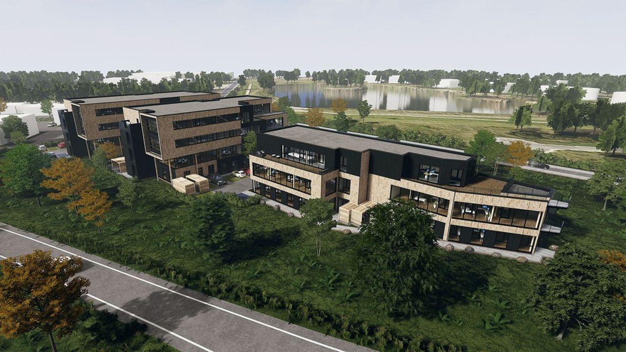 Wooden Park est situé dans la zone aéroportuaire de Mérignac et occupe près de 6.000 m².