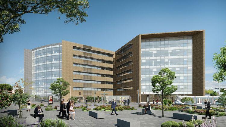 L''immeuble de bureaux Take Off, d'une surface de près de 7.000 m², est localisé à une station de tramway de l'aéroport de Toulouse-Blagnac.