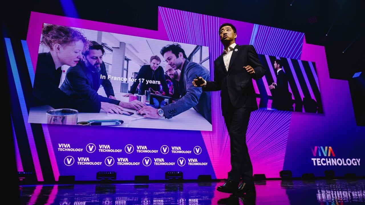 Ken Hu, l'un des trois PDG tournants de Huawei, était présent ce jeudi 16mai pour l'édition 2019 de VivaTech, une première pour le groupe chinois.