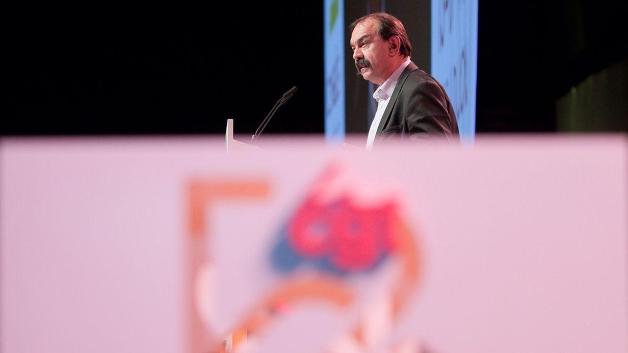 Le secrétaire général de la CGT, Philippe Martinez, clôturera le 52e congrès de la CGT ce vendredi matin.