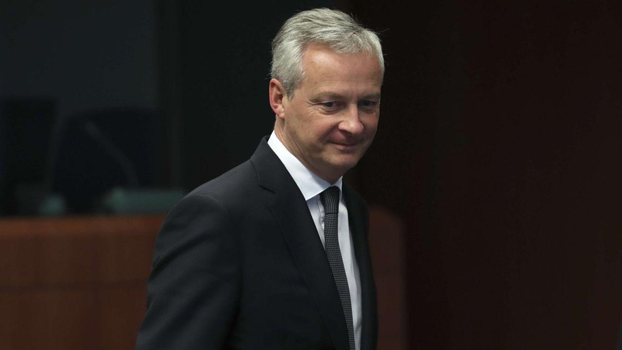 Bruno LeMaire, le ministre français des Finances, à son arrivée à Bruxelles, jeudi.