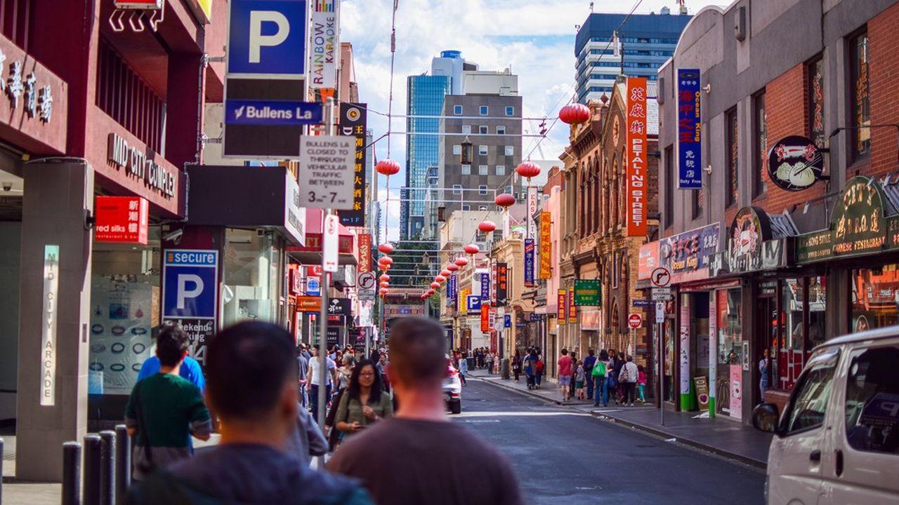 A Melbourne, le quartier chinois fondéautour de 1850 compte parmi les plus vieux «China towns» au monde.
