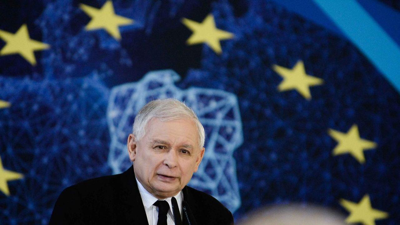 Le leader du parti Droit et Justice (PiS) a évité durant la campagne électorale d'entrer dans la confrontation directe avec Bruxelles.