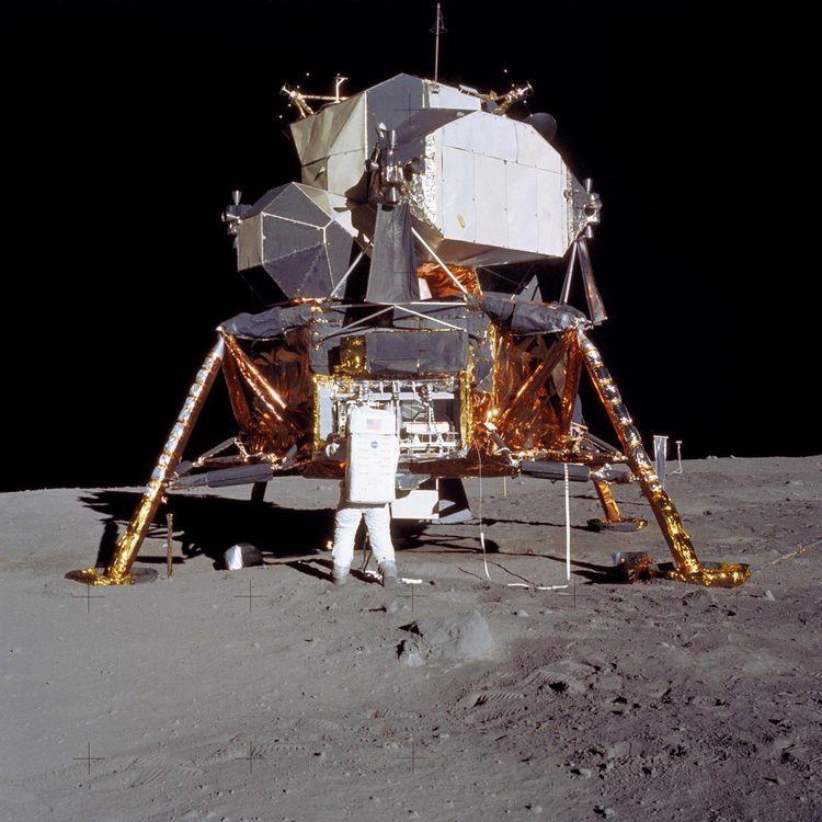 Le LEM - ici lors de la première mission lunaire Apollo 11 - a transporté 12 astronautes sur la Lune entre1969 et1972.