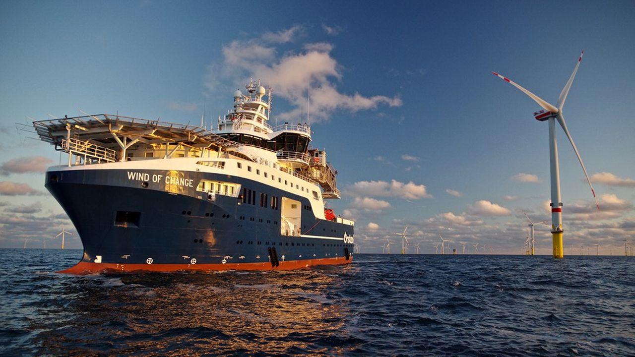 Le «Wind of change», construit au chantier naval turc Cemre pour Louis Dreyfus Armateurs, va opérer au large des côtes allemandes dans le cadre d'un contrat avec le géant de l'énergie danois Ørsted.