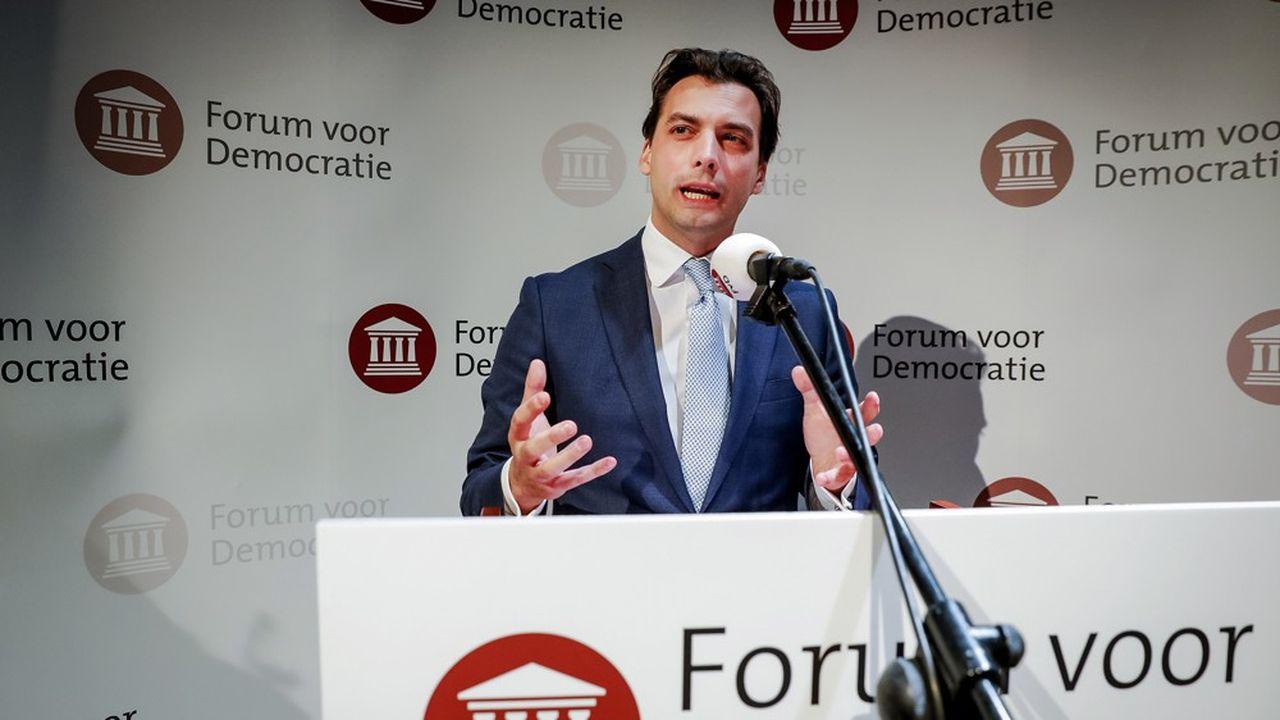 Un nouveau parti europhobe, le Forum pour la démocratie, dirigé par Thierry Baudet, talonne le parti conservateur néerlandais et est en train de supplanter leParti pour la liberté de Geert Wilders.