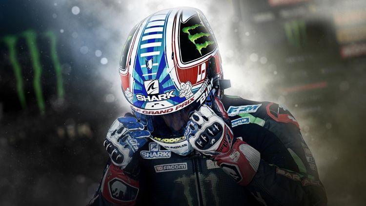 Shark équipe le Français Johann Zarco, ici au Grand Prix Moto France 2018