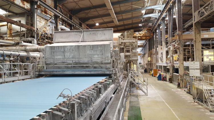 Ligne de production de papier.