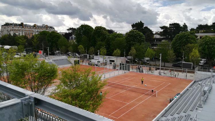 Les nouveaux courts de la zone du Fonds des Princes, à Roland-Garros, quelques jours avant le lancement de l'édition 2019 du tournoi.