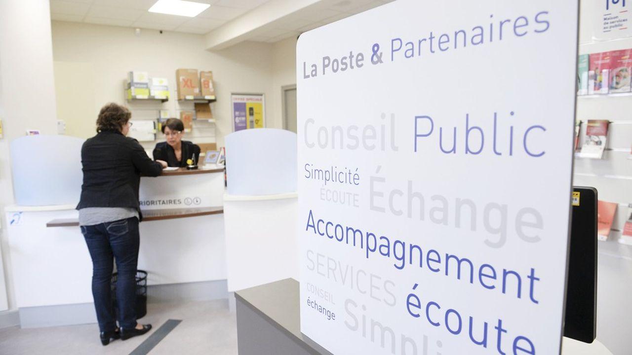 LaMaison de services au public installée dans le bureau de poste de Bagnac sur Cele qui donne accès à l'Assurance Maladie, Pole Emploi, ERDF, Carsat, MSA, GRDF.