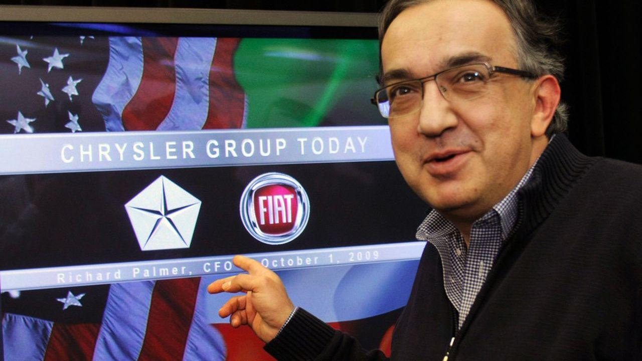 Lorsque Fiat s'invite au capital de Chrysler en 2009, le légendaire constructeur américain est au bord de la liquidation (photo: Sergio Marchionne, qui a alors pris les rênes du nouveau groupe).
