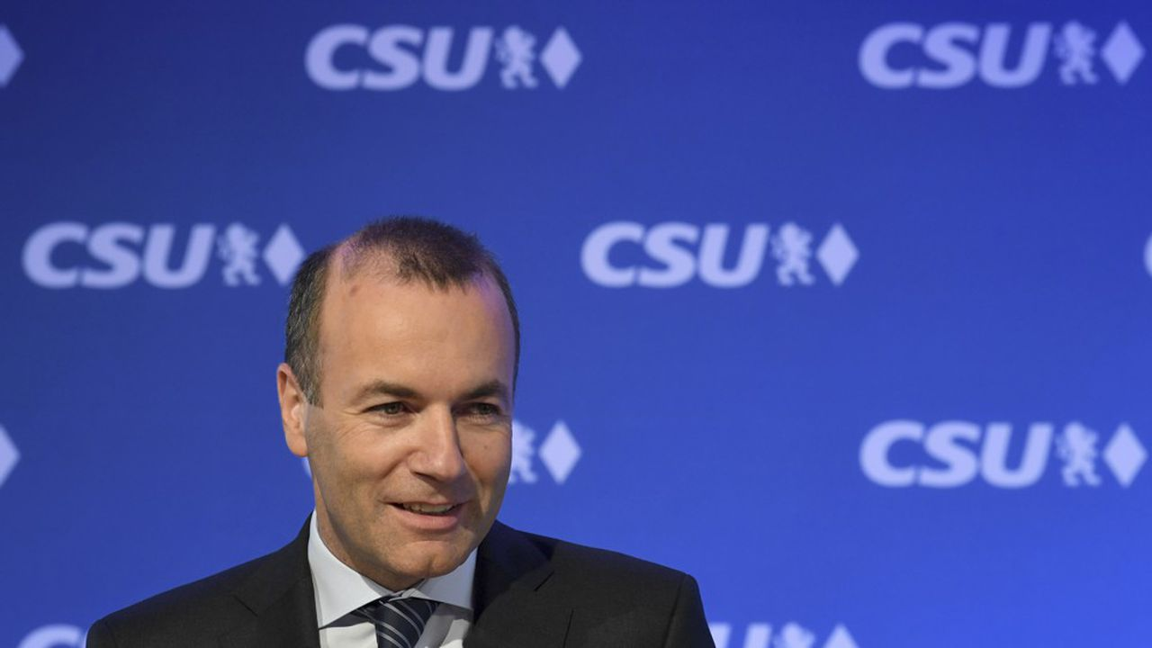 Manfred Weber, top candidate of the European People's Party (EPP) for European parliament elections, addresses a press conference prior to a party board meeting of his conservative Christian Social Union (CSU) party at the CSU headquarters in Munich, southern Germany, on May 27, 2019, one day after European parliament election. (Photo by Christof STACHE / AFP)