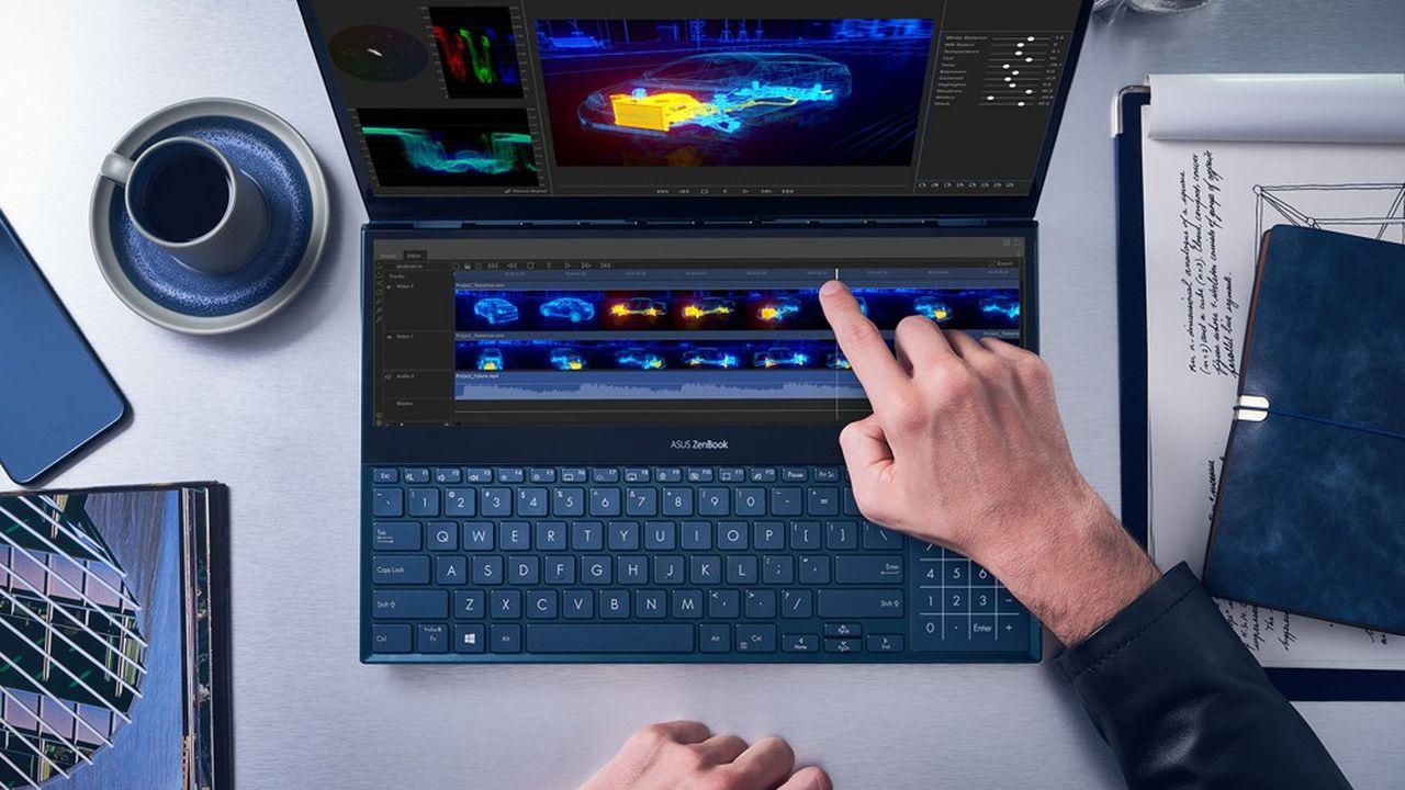 Le ZenBook Pro Duo, lancé ce lundi, doit aider Asus à accélérer sur le marché des PC professionnels.
