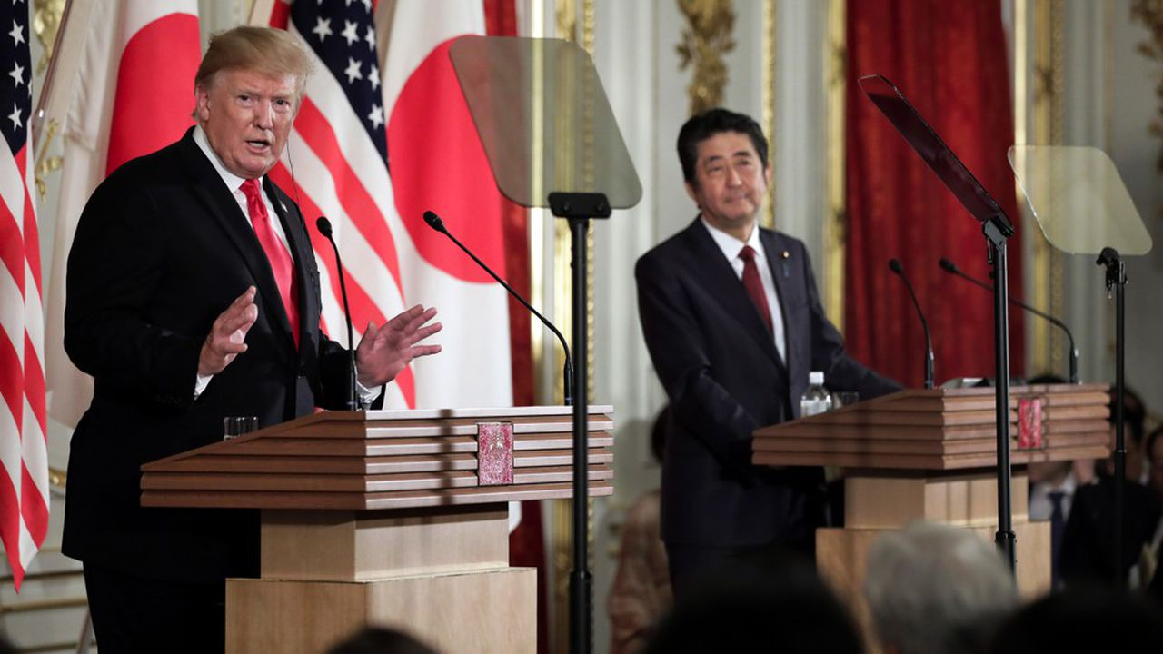 Lors de sa conférence de presse finale, le président américain a confié, devant Shinzo Abe, combien il espérait une médiation avec l'Iran menée par le Japon.