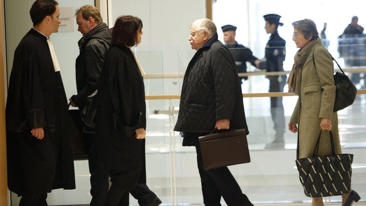 Didier Lombard, ancien PDG de France Télécom, à son arrivée au tribunal le 7 mai 2019.