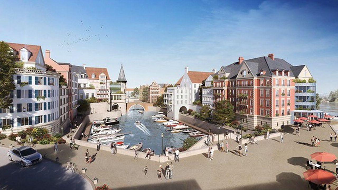 Une nouvelle route coupera les coteaux et reliera la marina au plateau.