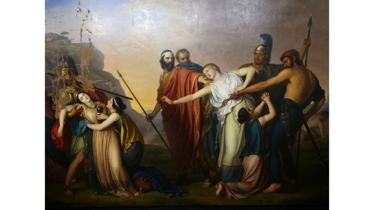 Antigone condamné à mort par Creonte, 1845, Giuseppe Diotti.