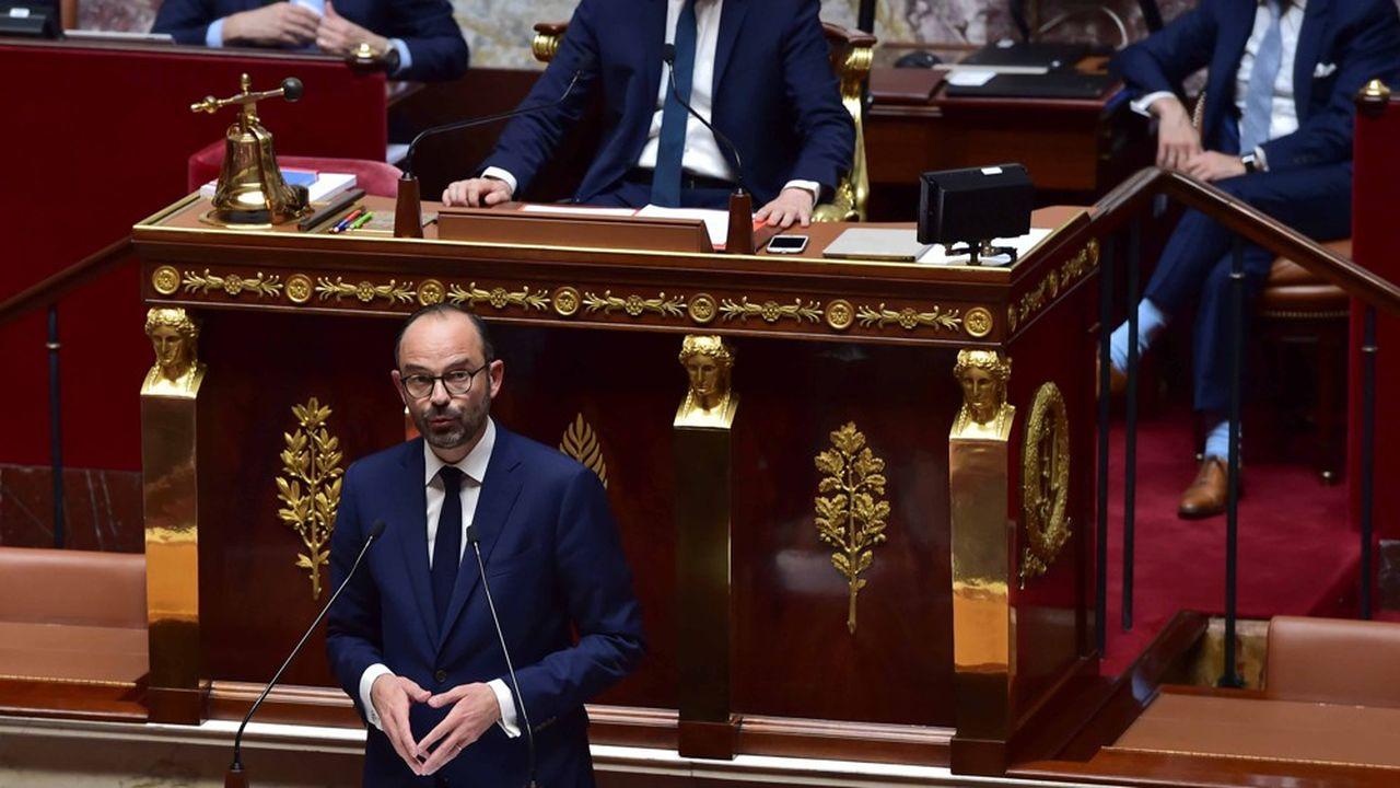 Edouard Philippe lors de son discours de politique générale devant l'Assemblée nationale le 4juillet 2017.