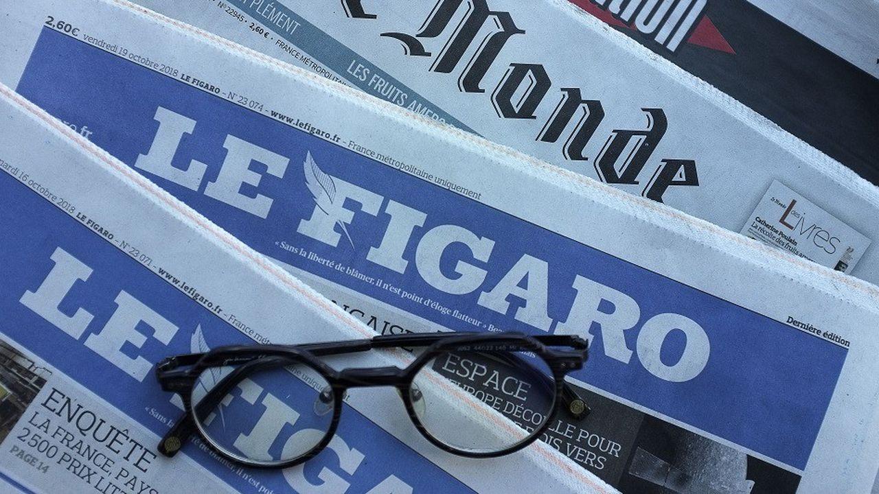 Si le Figaro revendique 120.000 abonnés numériques, les ventes papiers sont en recul.