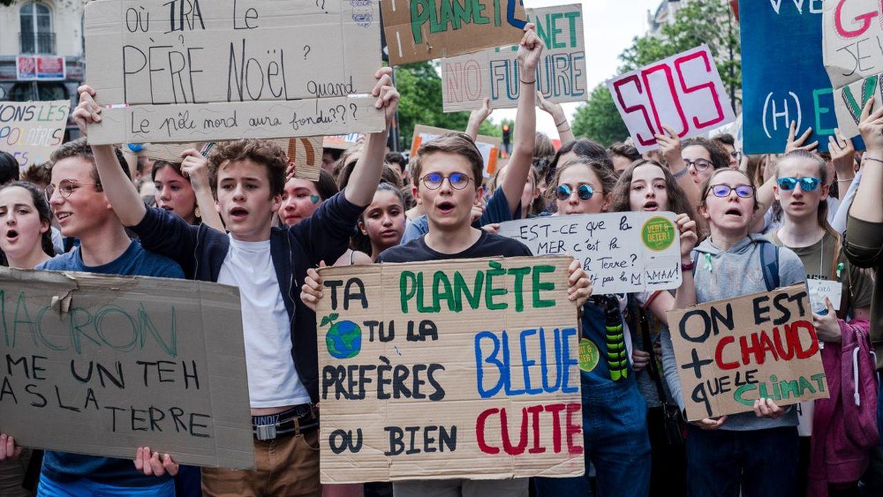Le 24mai 2019 a eu lieu à Paris une nouvelle marche des jeunes pour le climat. Les résultats des élections européennes du 26mai ont encore accru la pression sur le gouvernement quant à l'exigence de transition écologique.