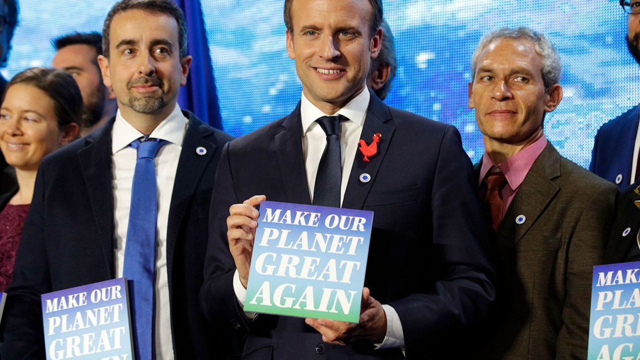 «Make our planet great again», le fameux slogan brandi par Emmanuel Macron en 2017.Le chef de l'Etat doit ajourd'hui démontrer qu'il n'entend pas le laisser lettre morte.