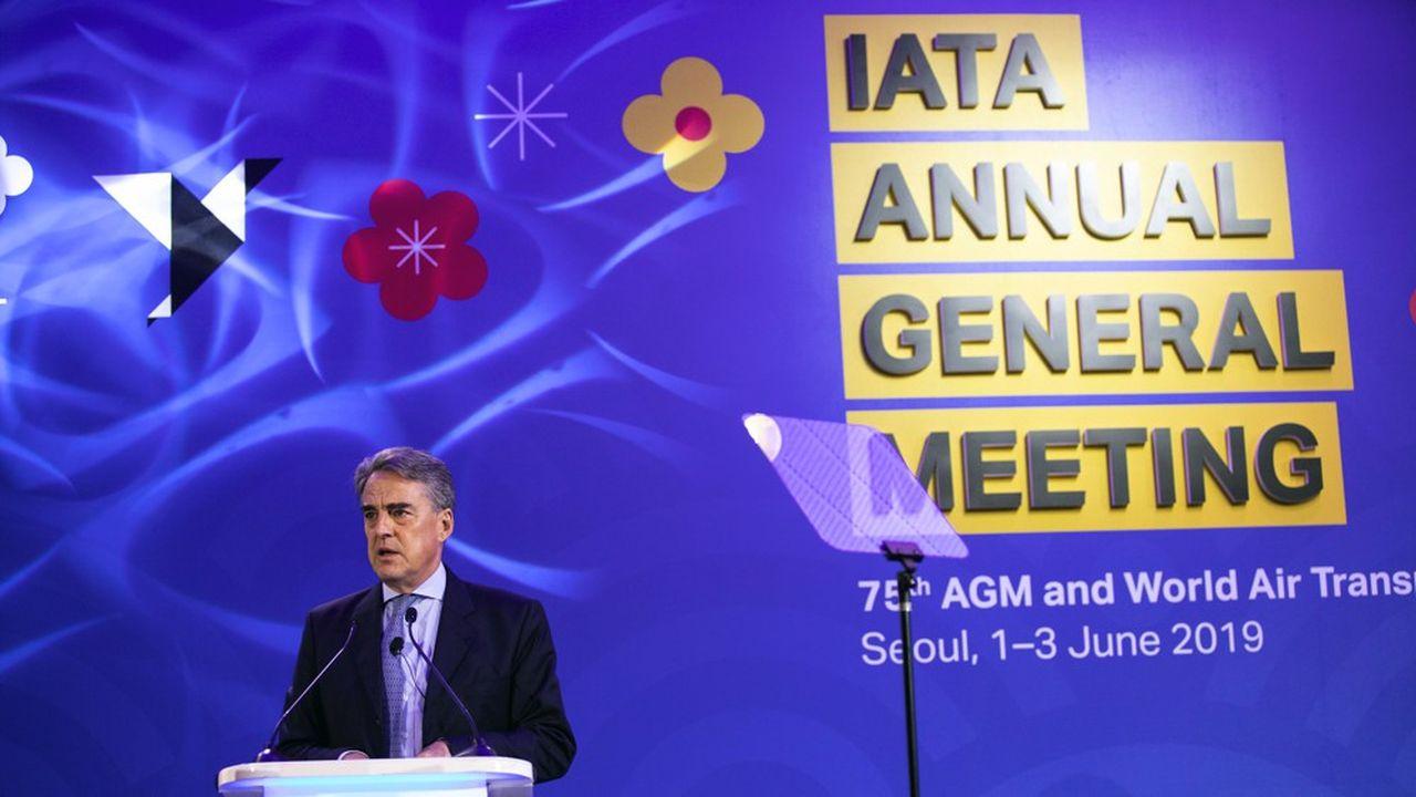 Le directeur général de l'Association du transport aérien international, Alexandre de Juniac, a annoncé une révision à la baisse des prévisions de bénéfice pour 2019.