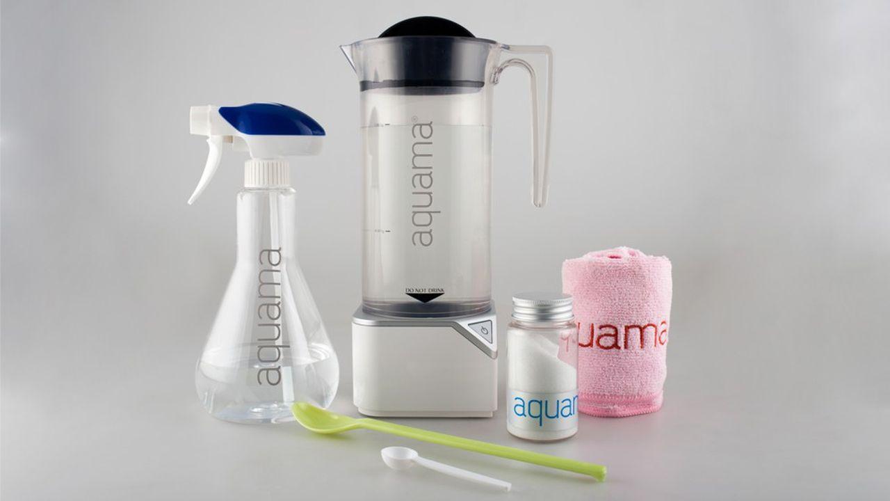 La solution Aquama, qui répond aux normes du milieu médical, de l'agroalimentaire et du grand public, s'utilise pure, pour désinfecter, ou diluée jusqu'à 80%.
