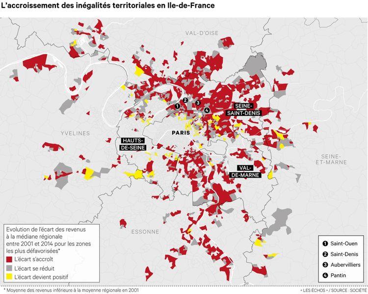 inégalités territoriales en ile de france