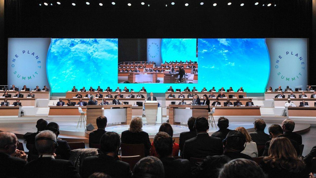 Le premier One Planet Summit de Paris, en décembre2017. C'est dans la foulée de cet événement que la France s'est engagée, aux côtés du Mexique, dans une initiative stratégique intitulée «Paris Collaborative on Green Budgeting».