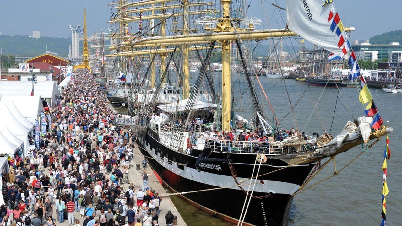 Cette 7eArmada (du 6au 16juin) réunit 46navires, dont 34grands voiliers