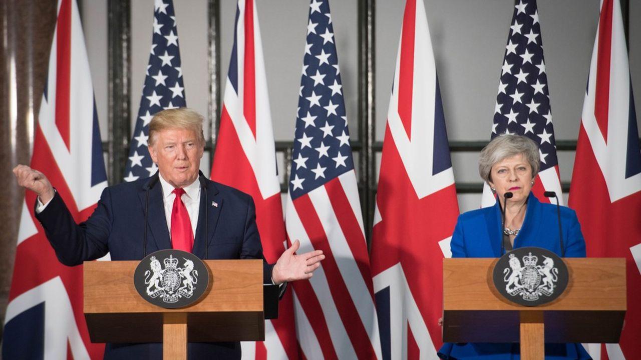 Conférence de presse conjointe à Londres le 4juin du président américain Donald Trump et de la Première ministre britannique, Theresa May, qui quittera ses fonctions vendredi.